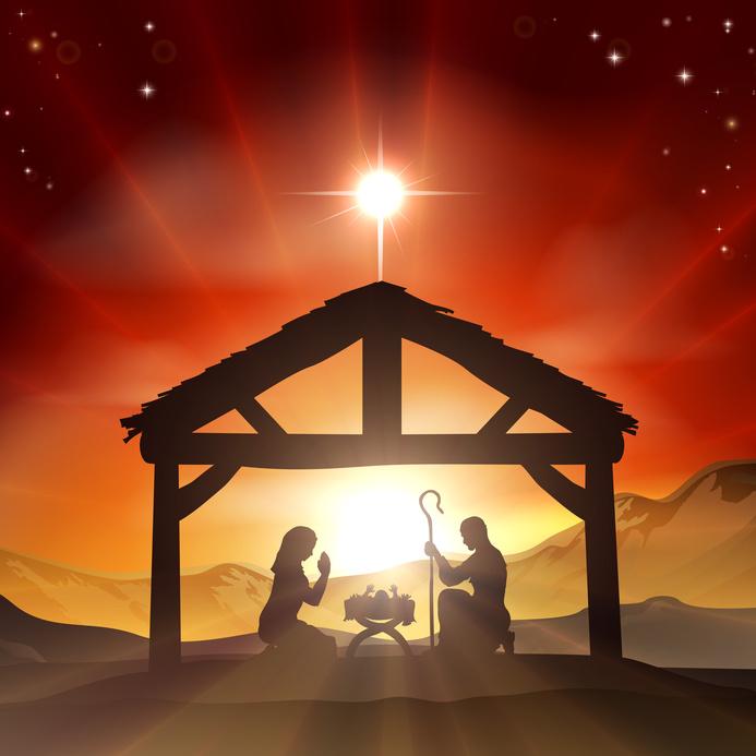 Nativity Christian Christmas Scene