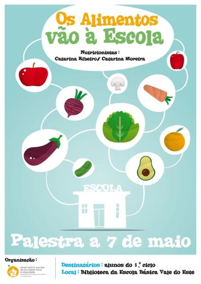 Poster-Os Alimentos vao a Escola