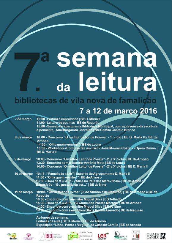 cartaz Semana Leitura Agrupamento 2016